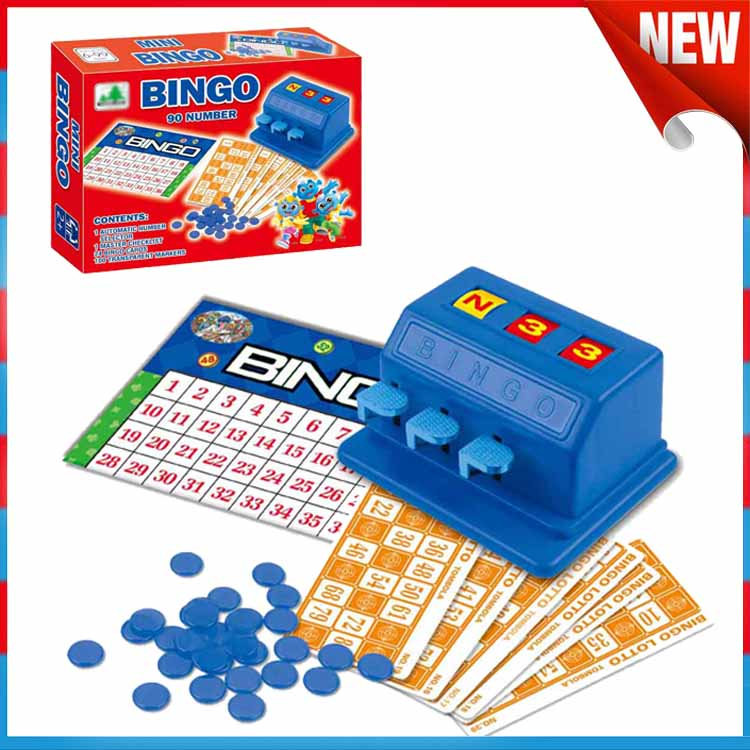 New Design Educational Play Learning Plastic Bingo Games Set