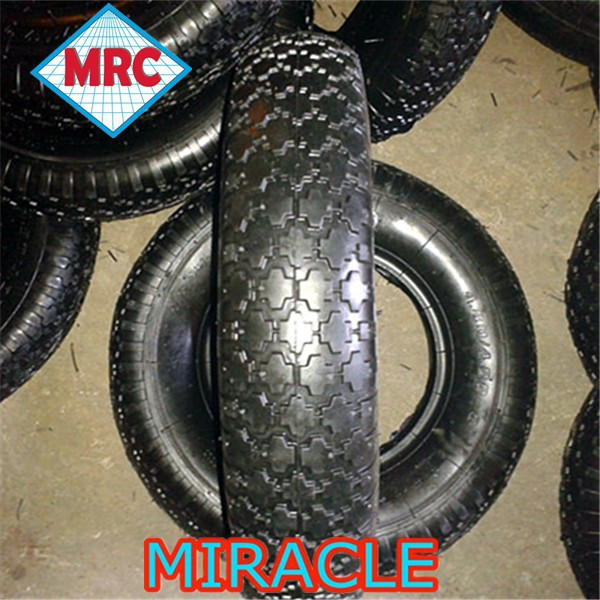 CHINA factory agricultural heavy duty 16 inch rubber wheelbarrow tire/wheelbarrow tyre 4.80/4.00-8 with top quality