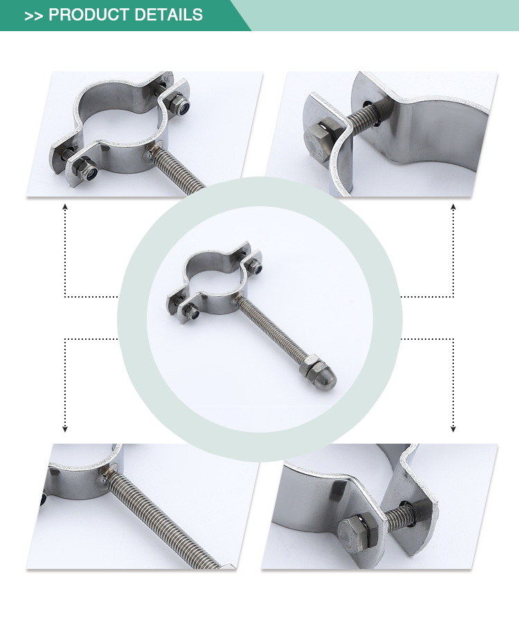 Cheap price safe standard stainless steel sanitary pipe clamp