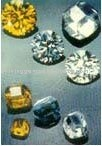 colourful cubic zircon gems