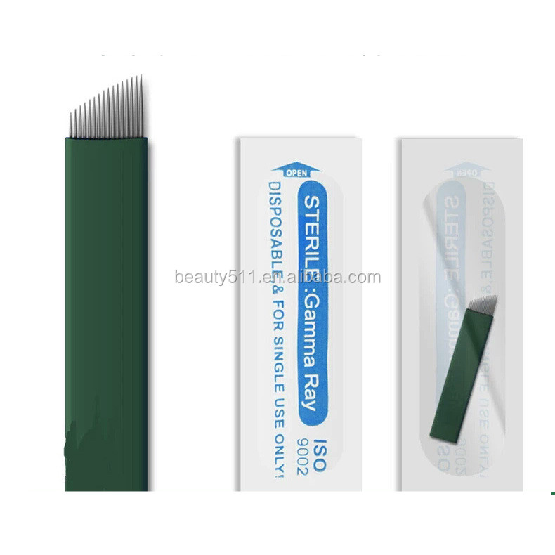 Wholesale High quality Disposable Professional Manua eyebrow Tattoo microblading needle Tattoo tools G20-16F
