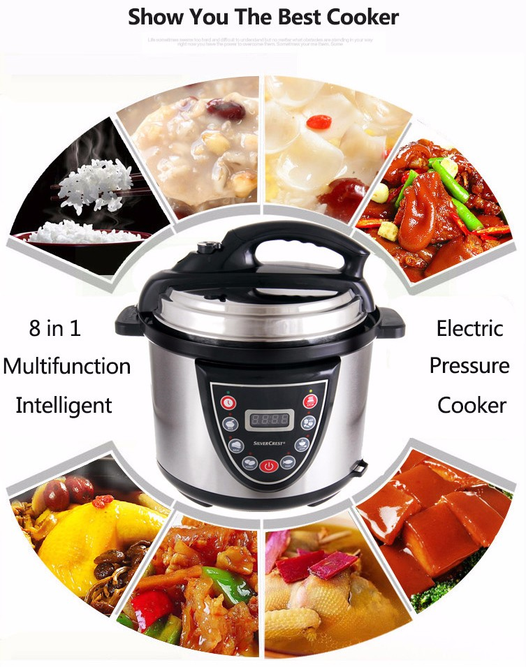 Energy Saving 900W 5l Chinese Commercial Multifunction Automatic National Electric Pressure Cooker