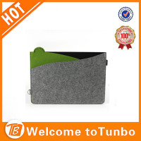 Protective felt bag sleeve for laptop custom tablet pc case