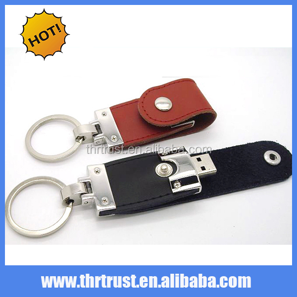 Free Sample Keychain Black Leather 8GB 8G USB Flash Drive Pen Drive Memory Stick USB Stick U Disk Data Storage