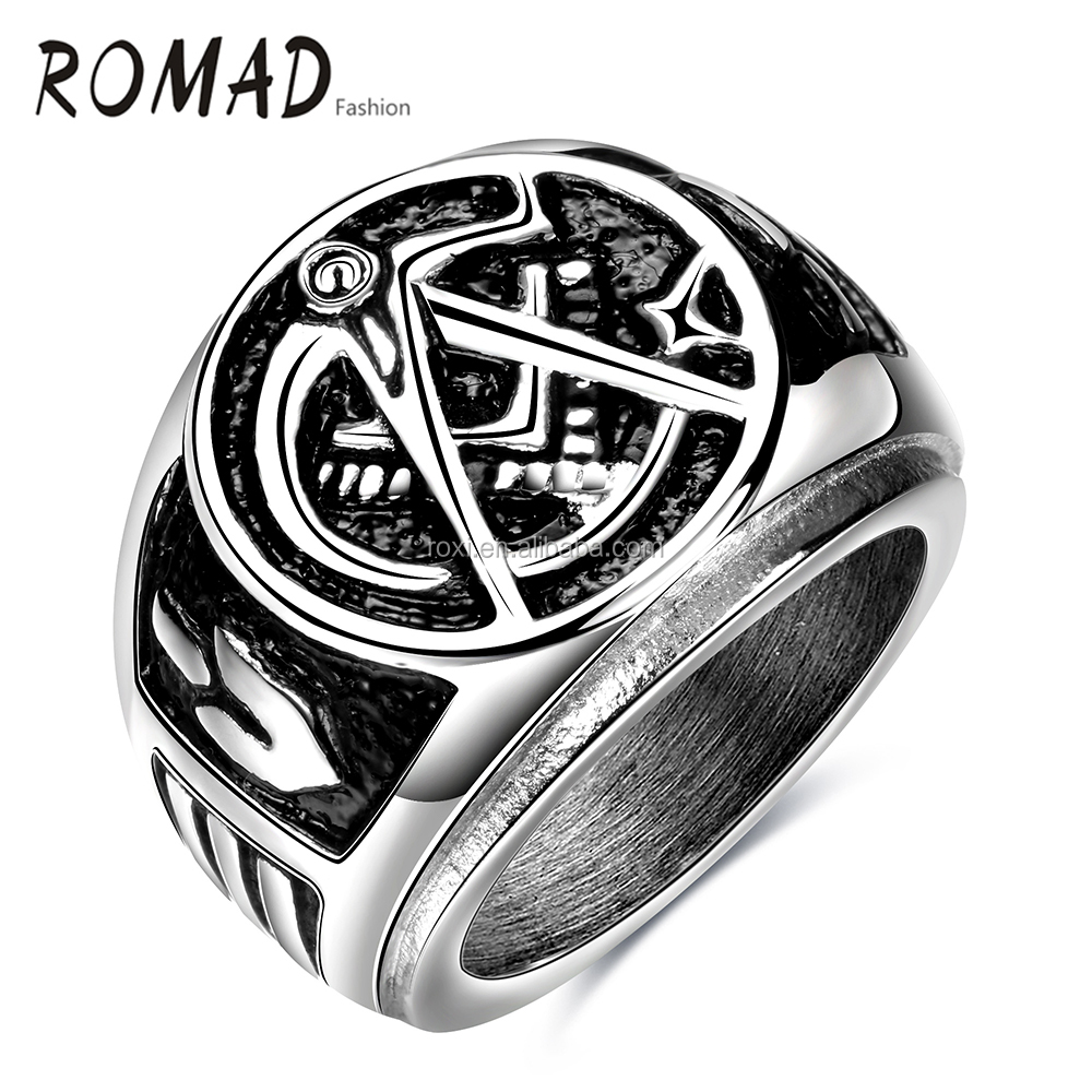 2016 High quality fashion popular stainless steel ring,secret wood ring