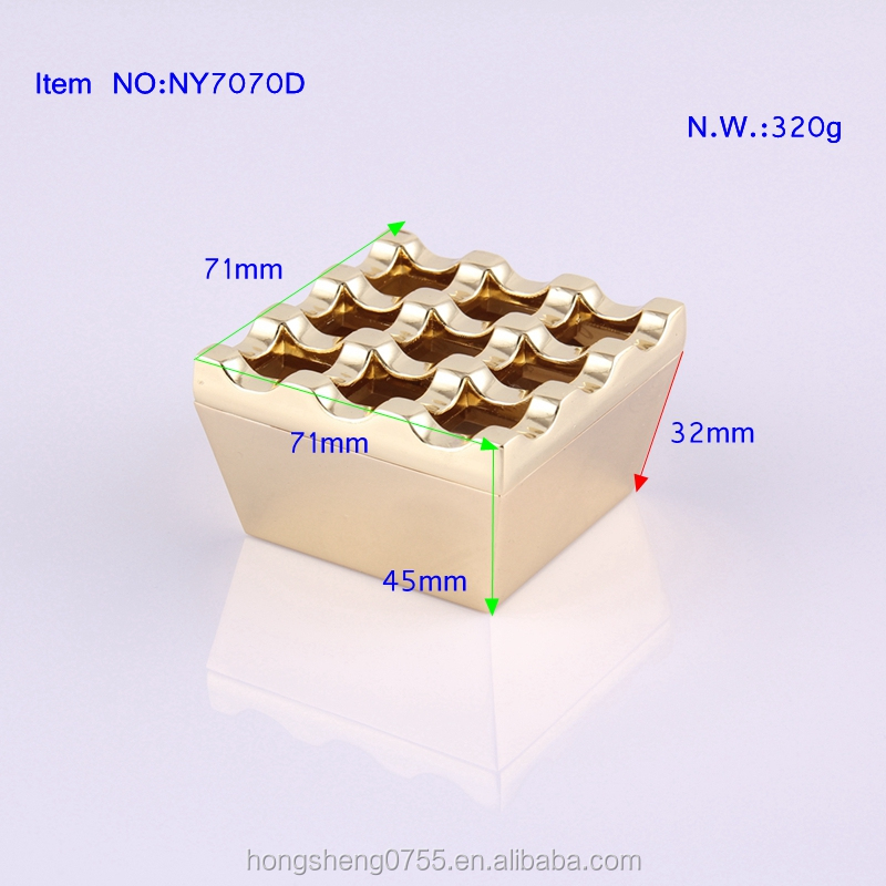 hot sale 9 holes metal windproof cigar ashtray made in china