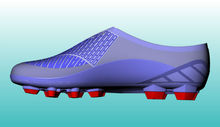 2014 American Football Shoes with Cleats Studs