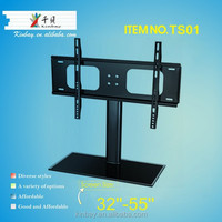 LED Corner Tabletop Wrought Iron Steel TV Swivel Stand