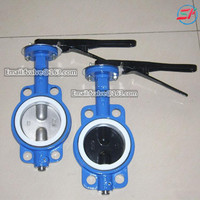 GG20 cast iron wafer butterfly valve