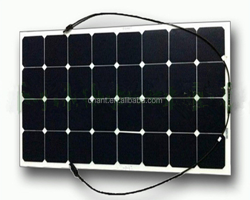 Yatch,camping,caravan use sunpower flexible solar panel 100W