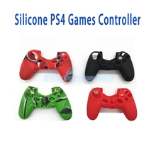 Anti-slip Silicone Protective Skin Cover Case For PS4 Game Controller