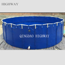 PVC Tarpaulin collapsible commercial fish breeding tank big size 20000l