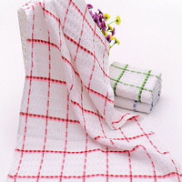 100% cotton yarn dyed the grid coffee or tea towels