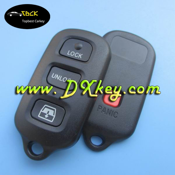 Orignal car key 3+1 button car key replacement With Square panic button for car key remote control toyota