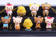 cute headphone dust plug / PVC cartoon dust plug / promotion dustplug