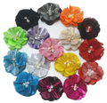 High Quality 5.5cm rhinestone centers fabric flower - decorative handmade fabric flowers for hair - flower crystal rhinestone cn