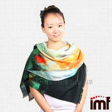 Lady Petro Fashion Style Worsted Twill Wool Scarf and Shawl