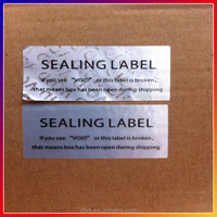 Custom paper VOID warranty seal sticker printing label, Security warranty VOID label, Tamper proof evident seal labels sticker