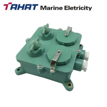 792832 250V/20A marine waterproof dual socket box with switch CZXS