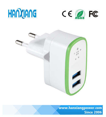 2 ports universal wall adapter dual usb wall charger
