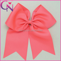 Popular And Hot Sale 8inch Lager Solid color Cheer bows with alligator clip