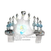 Promotional pageant plastic princess crown of Bottom Price