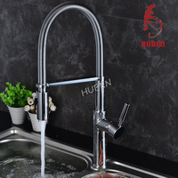 Brass spring loaded kitchen sink mixer tap faucet