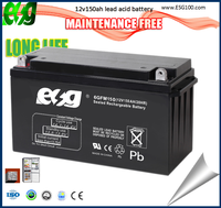 nice quality low price 12v 150ah lead acid batteries GEL12v150AH VRLA Storage Battery for UPS and Solar