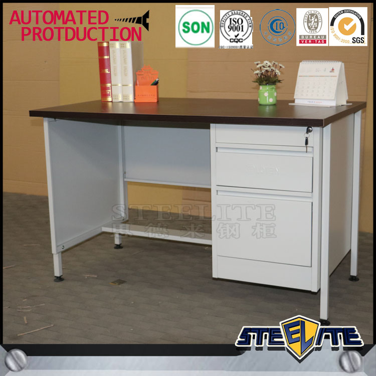 Professional european style office desk metal frame computer table steel office table