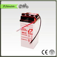 DoubleTech Standard Dry Charge Rechargeable Storage Motorcycle Battery 6N4-4D-1 (6V4AH)