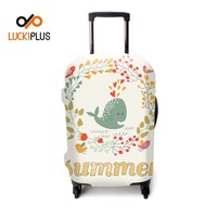 Luckiplus Nice Transfer Printed Trolley Case Cover Spandex Luggage Cover