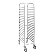 Hot Sale Commercial Stainless Steel Single Line Tray Trolley/Kitchen Rack/Baker Trolley 20 level
