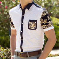 latest design silk shirt new design men batik shirts