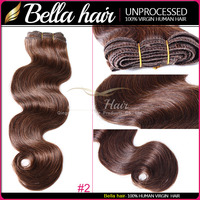 High Quality Colored #2 #4 #8 Brown Hair Beyonce style Remy Human Hair Bundles Virgin Brazilian Chinese extension