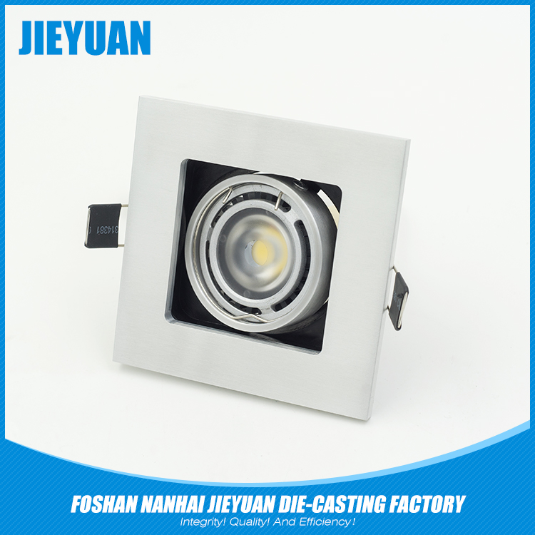 Square recessed ceiling led light cover