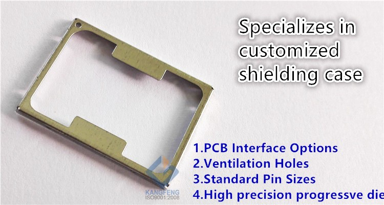 0.3mm Custom fixed on board Electromagnetic PCB shielding can