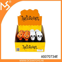 Halloween props flash led light pumpkin and skull with music flashlight toys