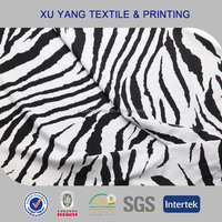 Zebra printing wholesale lycra spandex fabric for swimsuit/bikini/swimwear