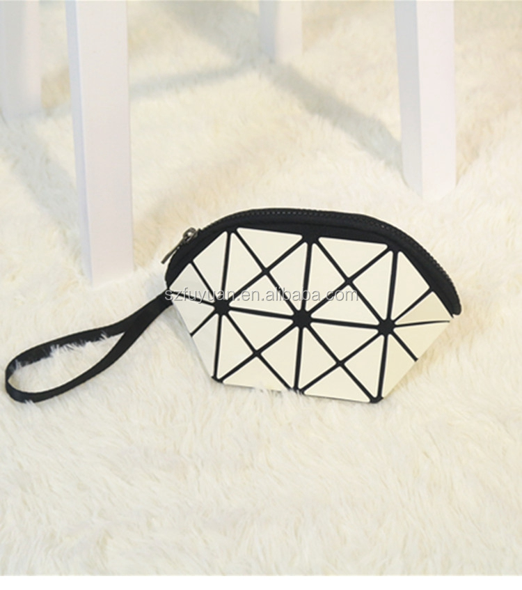 New arrival handbag female bag hand grasp mini chain geometry ling package laser large capacity makeup bag cosmetic