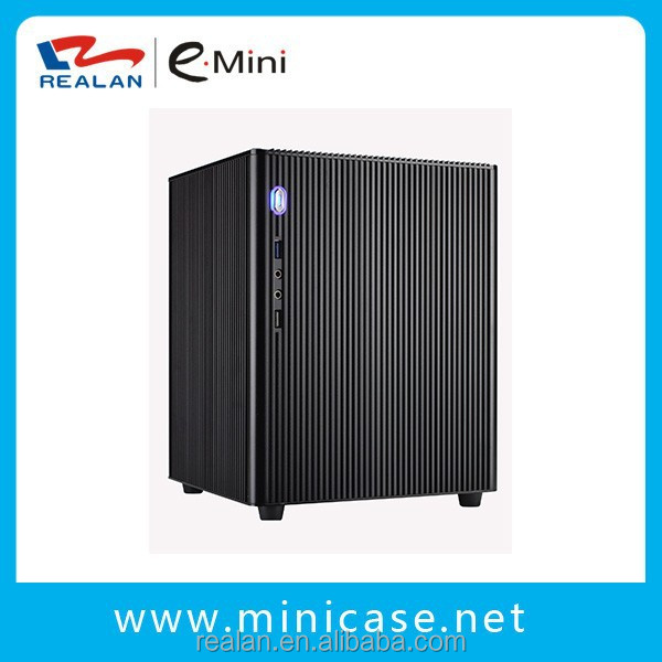 Cheap desktop slim case mini pc tower case/itx computer cases manufacturer Realan