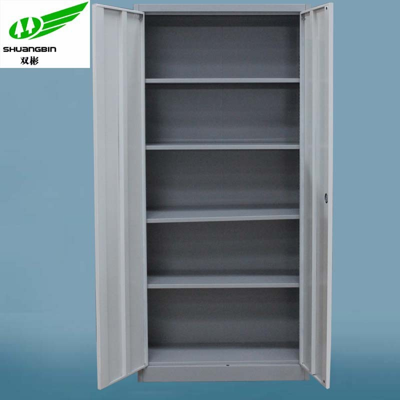 4 adjustable shelves filing cabinet with ironing board