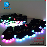Party game inspiring led flashing finger light gloves glowing in the dark