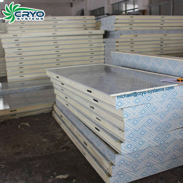 stainless steel cool room sandwich panel , cold storage board , insulated roof panels