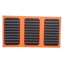 21W Folding Solar Panel Charger with Dual USB Ports for All 5V Digital Cell Phones