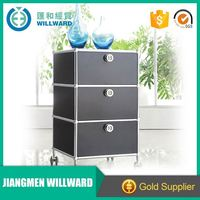 Vertical office furniture 3 drawer metal file cabinet