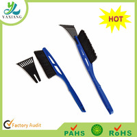 super extendable snow broom and telescopic snow brush with ice scraper and heavy-duty snow brush