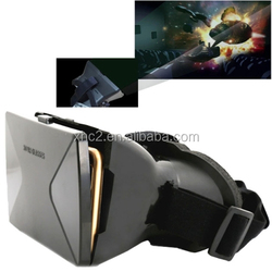 3D Cardboard Head Mount Plastic Virtual Reality 3D Video Glasses for iPhone 6 Plus / Samsung Galaxy Note 4 / 3 etc. 4.0 inch - 6