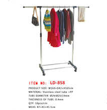 indoor stand stainless steel cloth dryer with one tube rack hanger