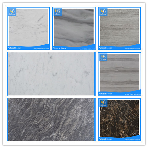 Carrara white carved marble tile, white marble floor tile