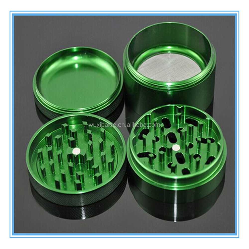 4 piece custom aluminum herb grinder manual cnc machining herb grinder